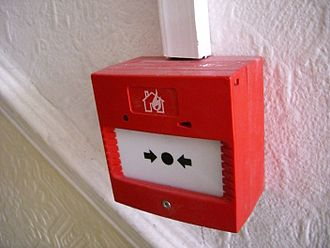 Manual fire alarm activation - A manual call point in the European Union (EU) with standard EN 54-11