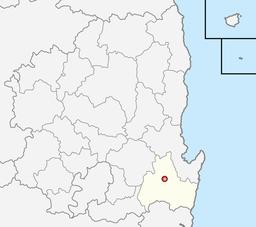 Byens beliggenhed i Norra Gyeongsang.