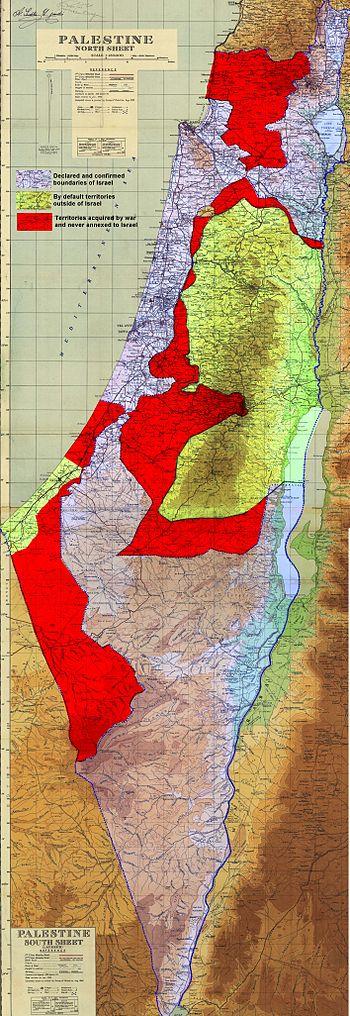English: Map of Palestinian territories under ...