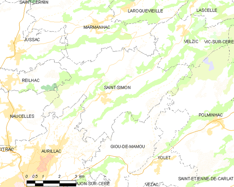 Archivo:Map commune FR insee code 15215.png