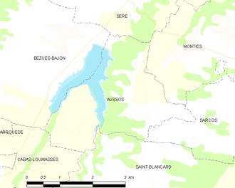 Aussos - Aussos and its surrounding communes
