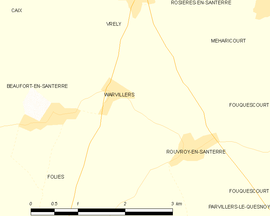 Mapa obce Warvillers