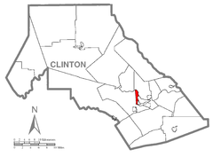 Map of Allison Township, Clinton County, Pennsylvania Highlighted.png