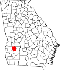 Map of Georgia highlighting Terrell County