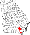 Map of Georgia highlighting Ware County.svg