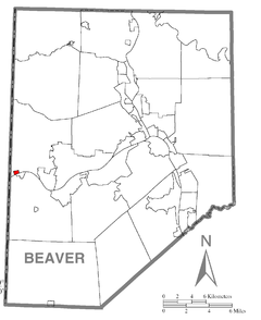 Map of Glasgow, Beaver County, Pennsylvania Highlighted.png