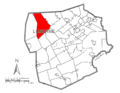 Map of Luzerne County, Pennsylvania Highlighting Ross Township.PNG