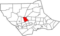 Map of Lycoming County, Pennsylvania highlighting Lycoming Township