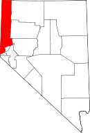Map of Nevada highlighting Washoe County