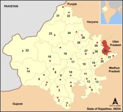 Vị trí của Huyện Bharatpur