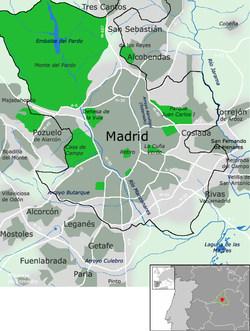 Municipios De Madrid Mapa.Area Metropolitana De Madrid Wikipedia La Enciclopedia Libre