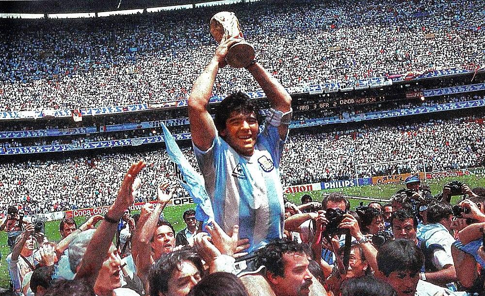 Copa do Mundo de 1986. Maradona v. Italia. Diego Maradona 7562e50348986