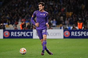 Marcos Alonso Mendoza - Alonso playing for Fiorentina in 2015