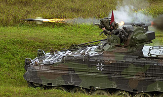 Infantry fighting vehicle - A Marder fires a MILAN anti-tank missile.
