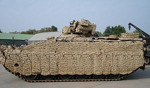 Multi-spectral camouflage - German Marder 1A5 with 'Barracuda' mobile multi-spectral camouflage