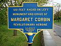 Margaret Corbin Historical Road Marker.JPG