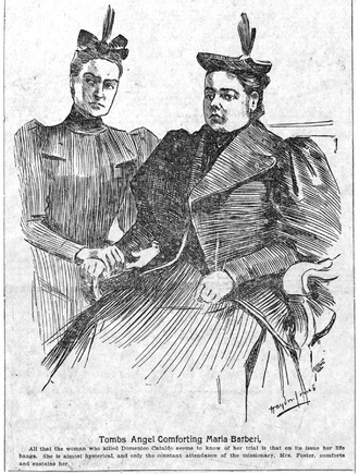 Rebecca Salome Foster - Maria Barbella (the second woman to face death in the electric chair) at her retrial attended by Rebecca Salome Foster