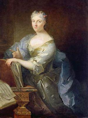 Marie-Louise Desmatins - Portrait of Marie-Louise Desmatins by Robert Tournières