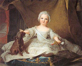 Marie Zéphyrine of France - Portrait by Jean-Marc Nattier