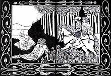 how king marke and sir dinadan heard sir palomides making great sarrow and mourning for la beale isoud a le morte darthur illustration by aubrey