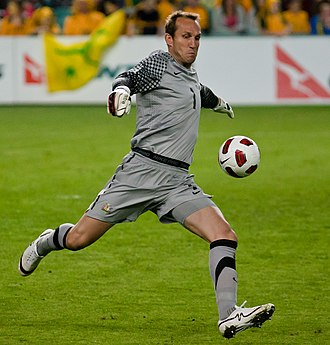 Mark Schwarzer - Schwarzer playing for Australia in 2010