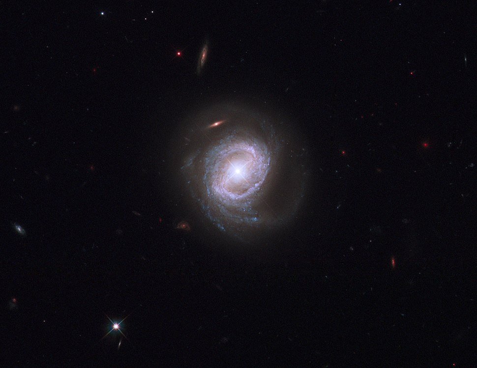 Markarian 817 (captured by the Hubble Space Telescope)