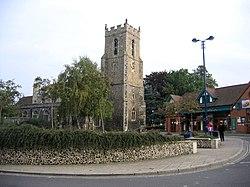 Market Hill and parish church, Haverhill, Suffolk - geograph.org.uk - 63259.jpg