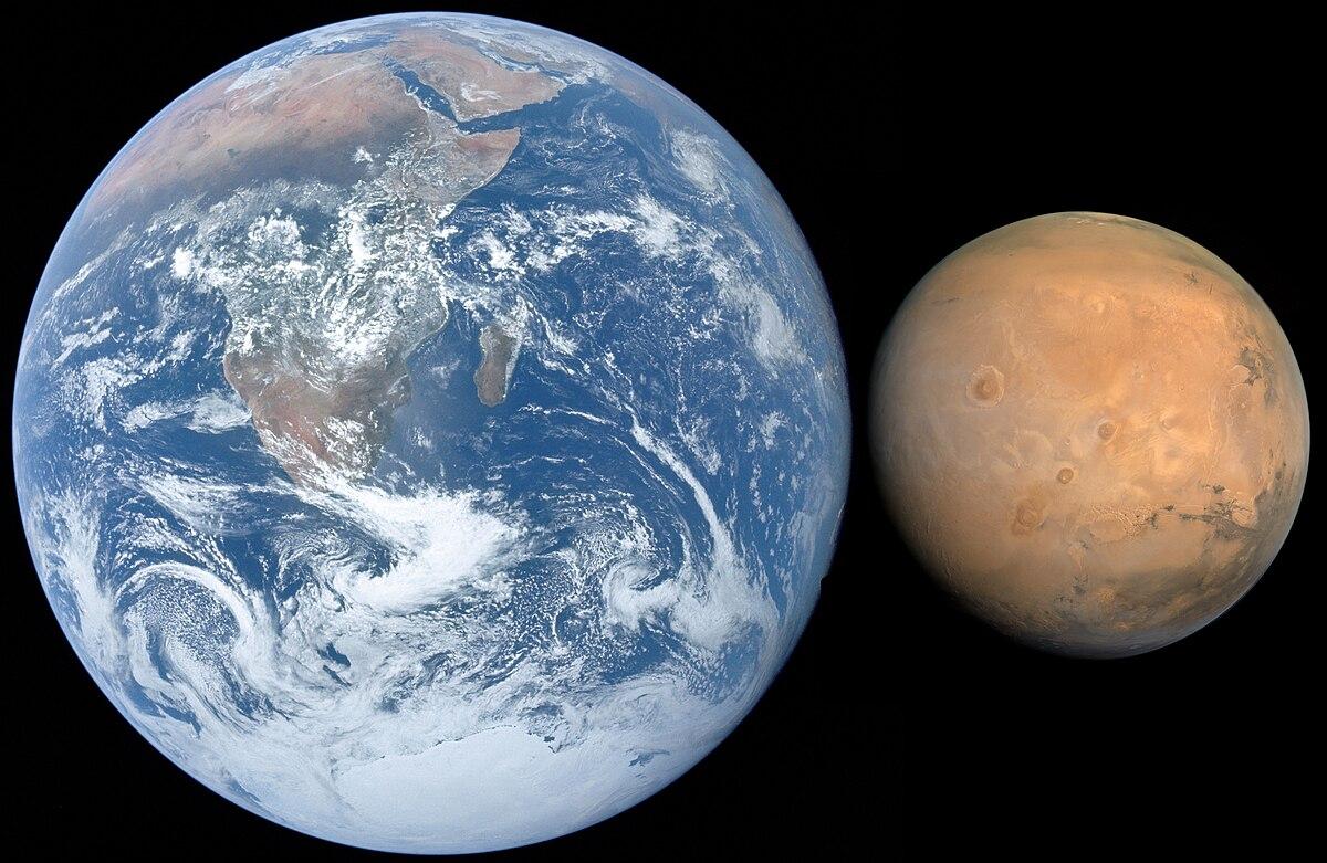 Mars, Earth size comparison.jpg