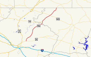 Maryland Route 194 - Image: Maryland Route 194 map
