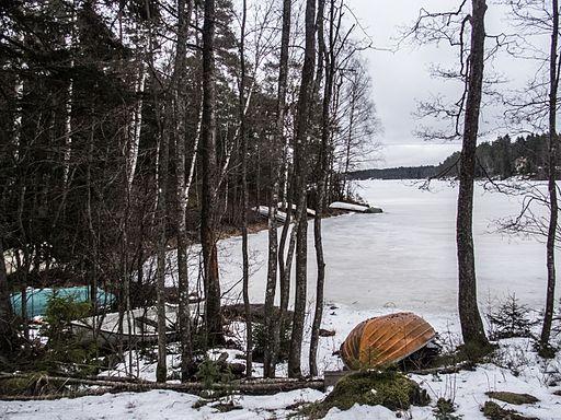 Matildanjärvi Mathildedal Perniö Salo Finland January 2015