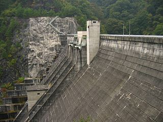 Matsukawa Dam Dam in Nagano Prefecture, Japan
