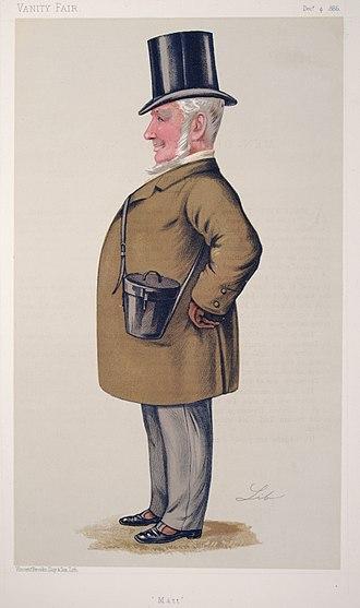 Mathew Dawson - Caricature of Mathew Dawson, 1886
