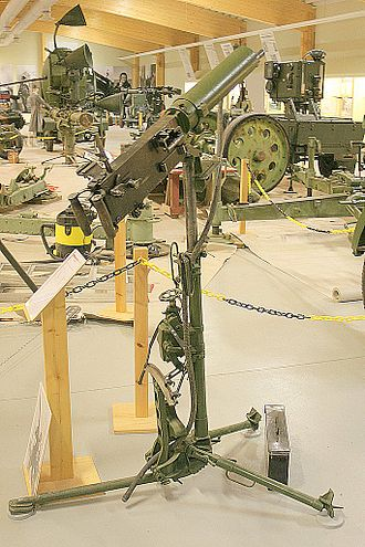 Anti-aircraft warfare - A Maxim anti-aircraft machine gun.