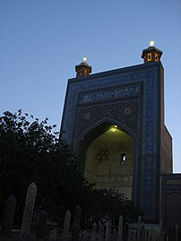 Mazar sheikh ahmad jami at night.JPG