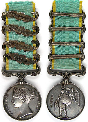 Crimea Medal - Obverse and reverse of the medal.