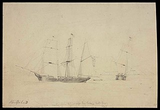 Meeting of the N.Z. Co's ships Tory & Cuba in Cook's Straits, 1840