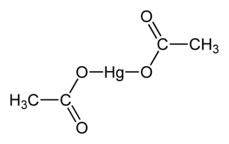 Mercury(II) acetate - Image: Mercury(II) acetate from xtal 1973 2D