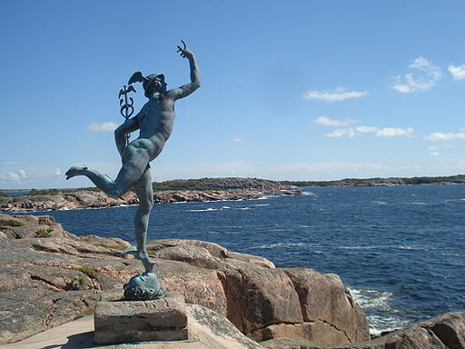 Mercury on island of Källskär, view from side