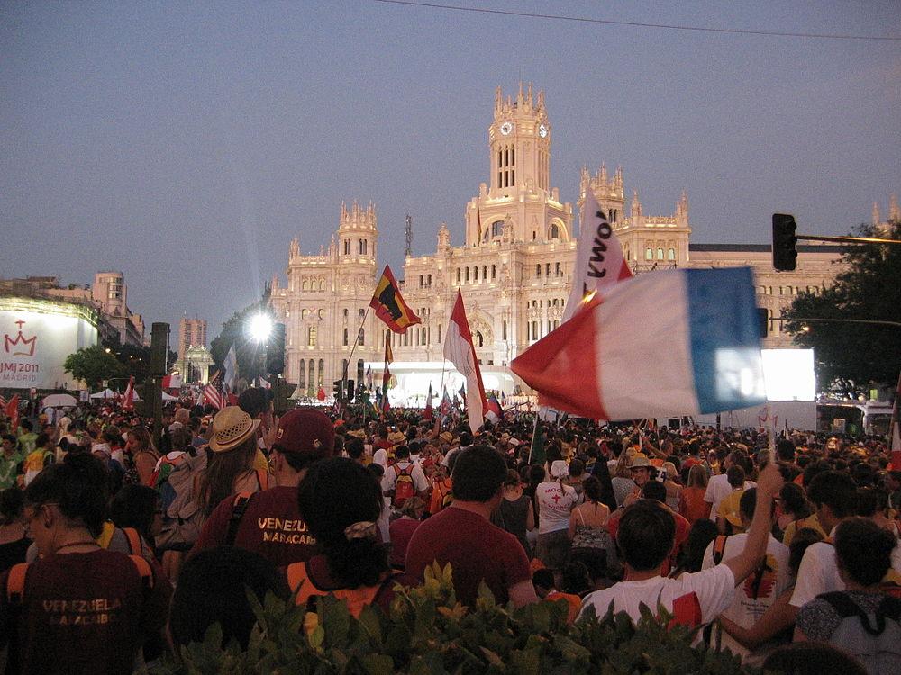 Messe d'ouverture de JMJ Madrid 2011