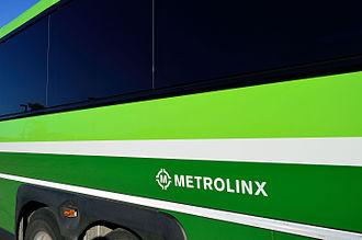 Metrolinx - Former Metrolinx logo on a GO Transit bus