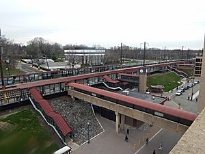 Metropark station - Metropark station from the parking deck in April 2015.