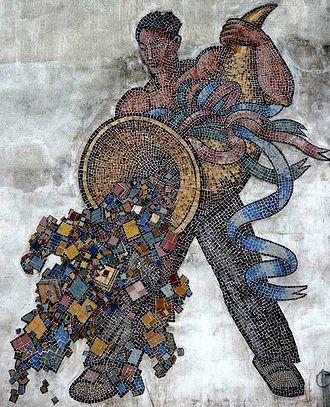 Frans Masereel - Cornucopia, a mosaic by Frans Masereel