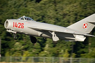 Mikoyan-Gurevich MiG-17 - A restored MiG-17 in the markings of the Polish Air Force