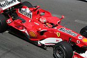 Michael Schumacher set the fastest time, but was relegated to the back of the grid for impeding rival cars.