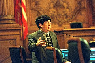 Michael Yaki - Yaki in the Board of Supervisors Chambers, 1999