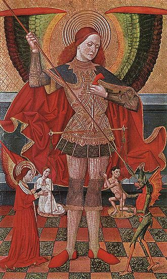Particular judgment - Saint Michael weighing souls