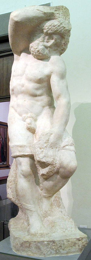 Bearded Slave - Image: Michelangelo buonarroti, schiavo barbuto, 1525 30 ca., 03