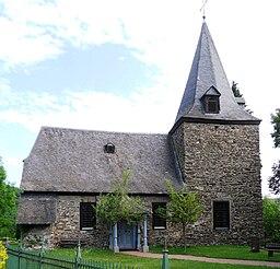 Alte Pfarrkirche in Michelbach, Blick von Süden