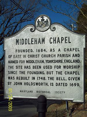 Middleham Chapel - Image: Middleham Chapel Plaque Dec 08