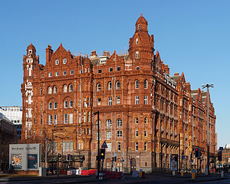 Midland Hotel, Manchester - View from Lower Mosley Street
